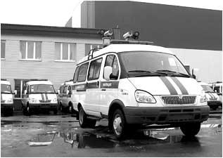 Спецавтомобили для перевозки и работы аппаратно – программного комплекса «ПОТОК» ГИБДД МВД РФ моделей «ПОТОК-2827» на базе автомобиля ГАЗ-3221 и «ПОТОК-28271» на базе автомобиля ГАЗ-2752