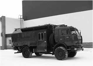 Спецавтомобиль - передвижная криминалистическая взрывотехническая лаборатория на базе автомобиля КАМАЗ-4326-15