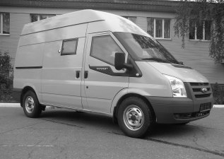 Спецавтомобиль бронированный для перевозки денежной выручки и ценных грузов Ford Transit VAN Jumbo 350