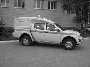 Спецавтомобиль бронированный для перевозки денежной выручки и ценных грузов на базе автомобиля «Mitsubishi L200»
