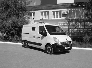 Спецавтомобиль бронированный для перевозки денежной выручки и ценных грузов на базе автомобиля RENAULT MASTER